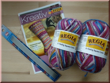 Socken-Kit 6-fach color